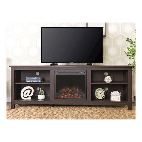 Walker Edison Fireplace Tv Console For Most Tvs Up To 70