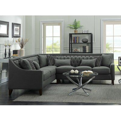 Willa Arlo Interiors Zivah Solid L Shaped Sectional In 2020 Living Room Sofa Living Room Designs Home Living Room