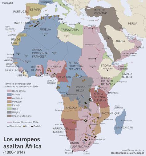 Mapa Colonial De Africa.El Africa Colonial 1880 1914 Africa Mapa Geografia