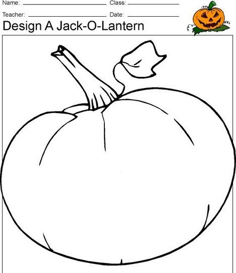 pumpkin template kindergarten  jack o lantern activities For kindergarten Preschooler ...
