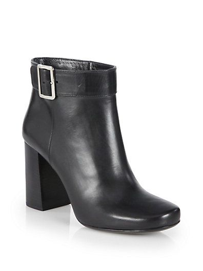 Prada - Leather Buckle Ankle Boots - pre-Fall 2014