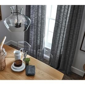 Allen Roth Bendhal 84 In Gray Polyester Light Filtering Standard Lined Single Curtain Panel Lowes Com Panel Curtains Paneling Curtains