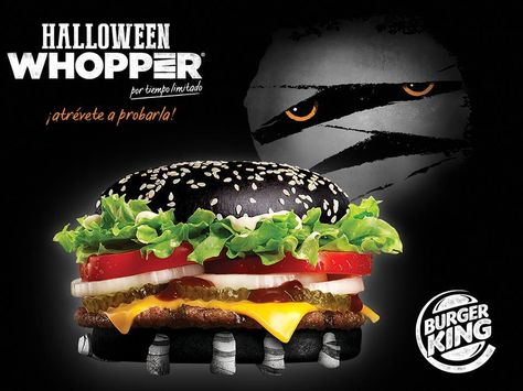 Burger King to debut halloween Whopper with black bread bun ...