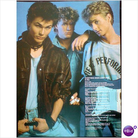 A Ha Song Lyric Hunting High And Low Magazine Feature Smash Hits