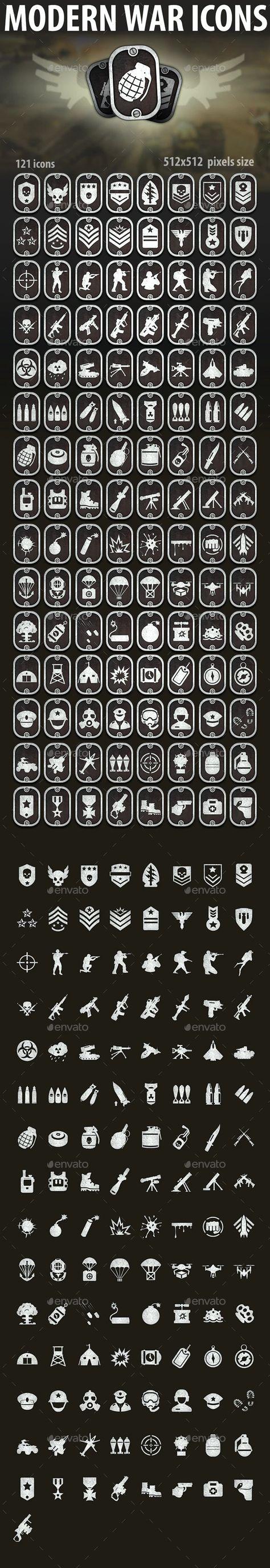 Modern War Icons