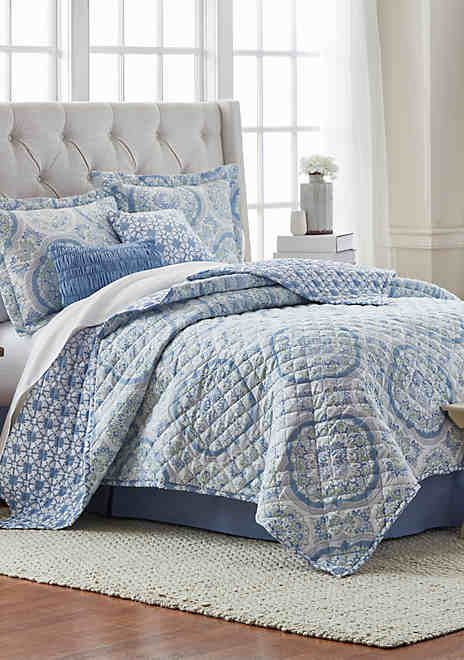 Modern Southern Home 6 Piece Sweet Water Quilt Bed In A Bag Set Quilt Bedding Coverlet Bedding Quilt Sets Bedding