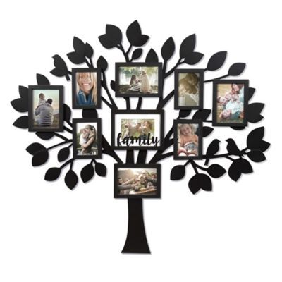 Wallverbs 13 Piece Family Tree Set In Black Bed Bath Beyond Family Tree Frame Family Tree Photo Frame Wall Frame Set