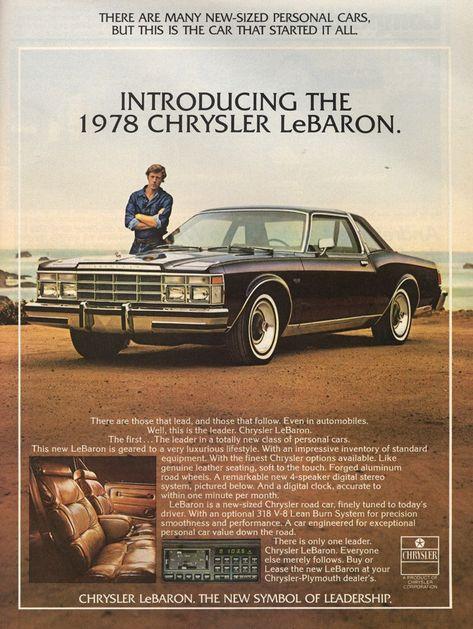 1978 Chrysler LeBaron vintage advertisment