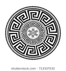 Ancient Round Ornament Vector Isolated Black Meander Pattern On The White Background Antique Mandala Disenos De Tatuaje Maori Arte Con Ceras Patrones Etnicos