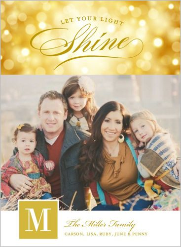 Let Light Shine 6x8 Stationery Card by Stacy Claire Boyd