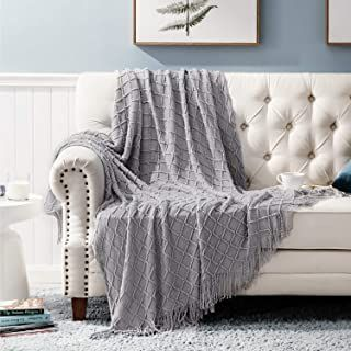 Amazon Com Light Grey Throw Blanket In 2020 Sofa Throw Couch Throw Blanket Decorative Blankets