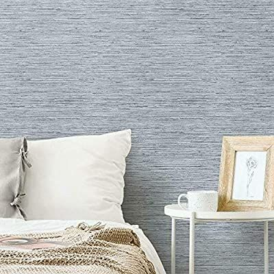 Vertical Texture Metallic Silver Faux Grasscloth Vinyl Modern Wall Paper Straw Glossy Dining Room Wallpaper Grasscloth Wallpaper Bedroom Wallpaper Accent Wall
