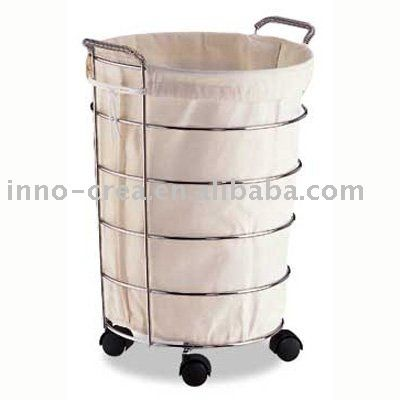 Metal Laundry Basket With Wheels