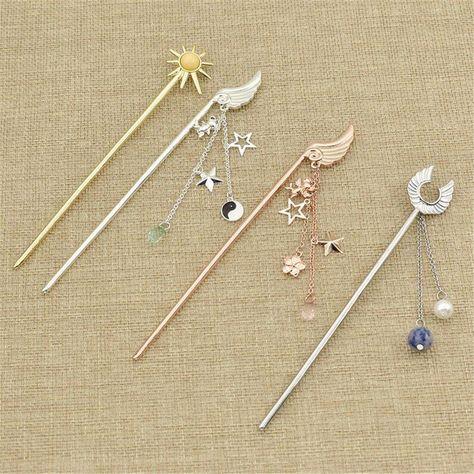 Lovely CardCaptor Sakura Hairpin Hair Stick Cosplay Party Decor Jewellery Girls