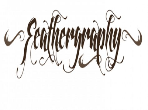 Cool Tattoo Fonts: Feathergraphy Decoration Font Tattoo By Mans Greback ~ tattoosartdesigns.com Tattoo Ideas Inspiration