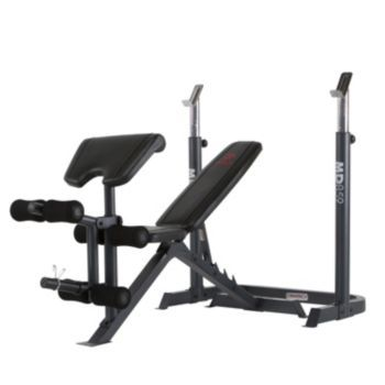 Marcy Diamond Bench Rack Adjustable Weight Bench At Home Gym Recumbent Bike Workout