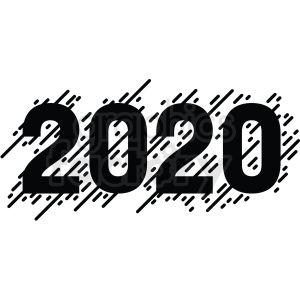 Black White 2020 New Year Clipart Clip Art New Year Clipart Newyear