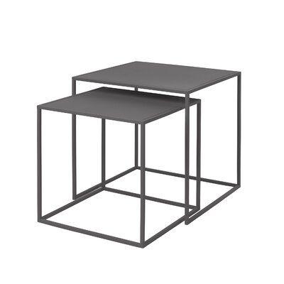 Blomus Fera 2 Piece Nesting Tables Color Steel Gray In 2020