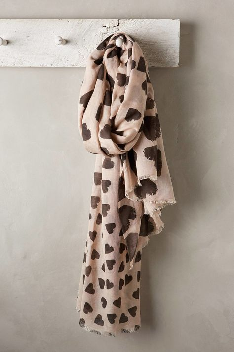 Scattered Hearts Scarf ($148)