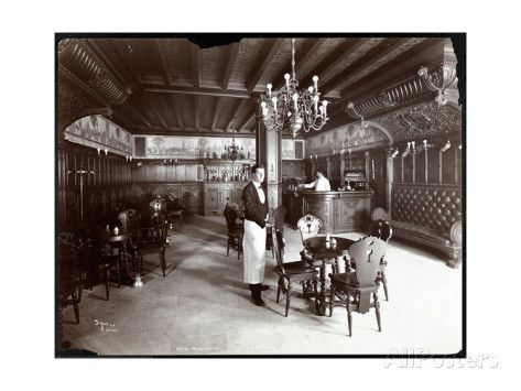 The Dutch Room at the Hotel Manhattan, 1902 Giclée-Druck von Byron Company bei…