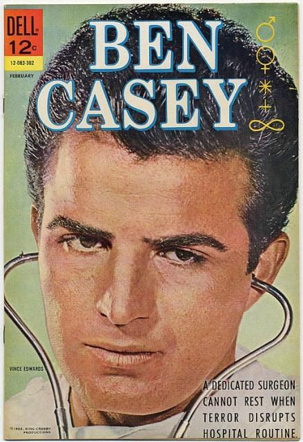 The Tv Show Ben Casey--Since I am an equal opportunity TV doctor fan, couldn't remember Dr. Kildare without also remembering Ben Casey. 60s Tv Shows, Old Shows, Movies And Tv Shows, Vintage Comic Books, Vintage Tv, Ben Casey, Tv Retro, Mejores Series Tv, Tv Doctors