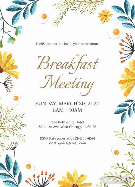 Brunch Invitation Template Free Unique Free Corporate Breakfast Invitation Template Download 344 Invitation Template Party Invite Template Brunch Invitations