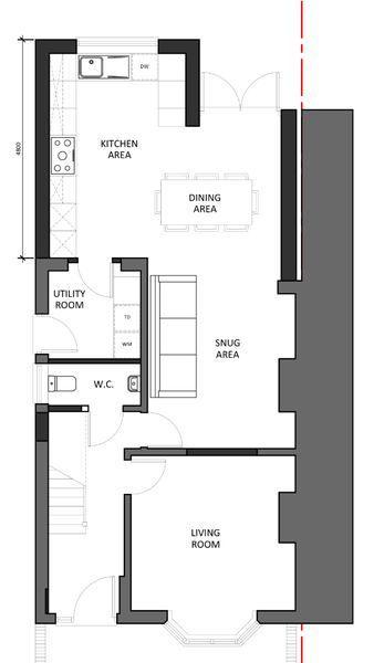 Image Result For Kitchen Diner Layout Plan Kitchen Diner Extension Open Plan Kitchen Living Room Victorian Kitchen Extension