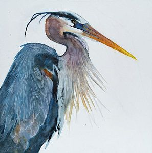 Image Result For Watercolor Painting Blue Heron Birds Painting