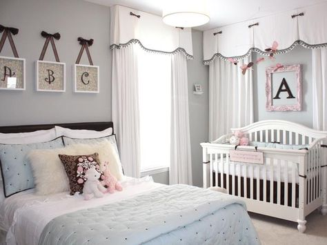 NURSERY CURTAINS BABY CHILD  BEDROOM WINDOW DECORATION WITH BOWS