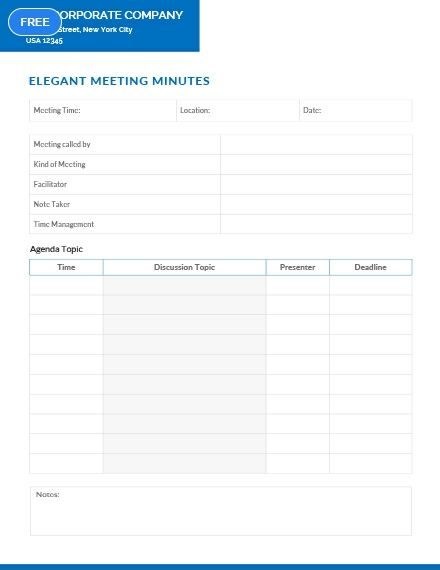 Elegant Meeting Minutes Template Free Pdf Google Docs Word Apple Pages Template Net Templates Template Printable Ms Word - ms word minutes template