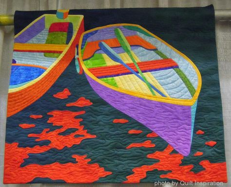 Dinghy by Shelly Burge, Nebraska. Best of the 2014 Pacific International Quilt Festival - Day 3