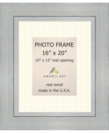 Amanti Art Romano Silver 16 X 20 Matted To 10 X 13 Opening Wall Picture Photo Frame Picture Frames Picture Frame Sizes Frame