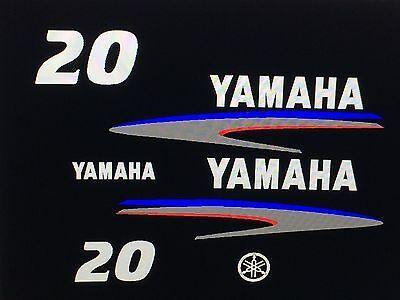 60 hp Outboard Decal Sticker Kit Marine vinyl 50 Yamaha 40