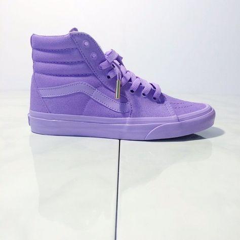 custom Lilac Purple Sk8-Hi Vans