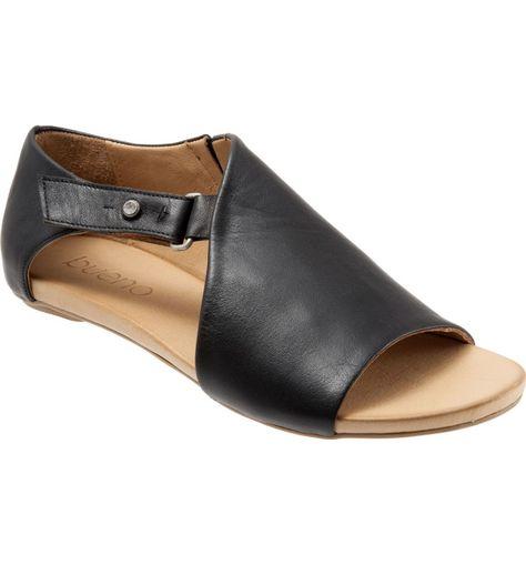 Kale Sandal, Main, color, Black Leather | wear | Closed toe