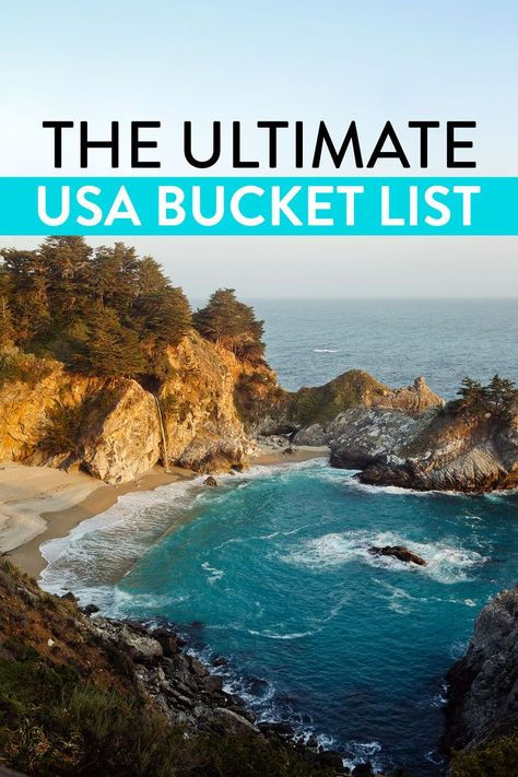 101 USA Places to Visit - What to Do in America // Local Adventurer #usa #bucketlist #wanderlust #bigsur