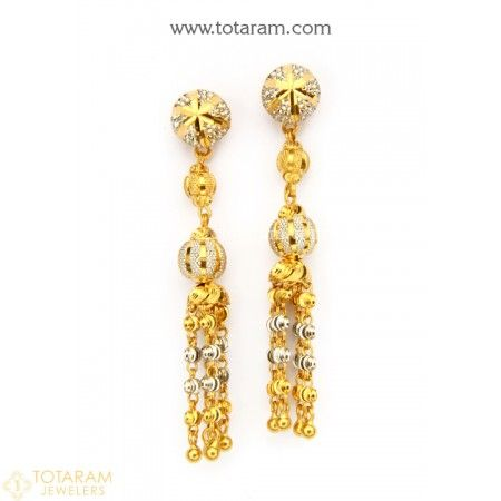 9beea7ad4 22K Gold Drop Earrings for Women - 235-GER8955 - Buy this Latest Indian  Gold Jewelry Design in 7.500 Grams for a low price of $463.00