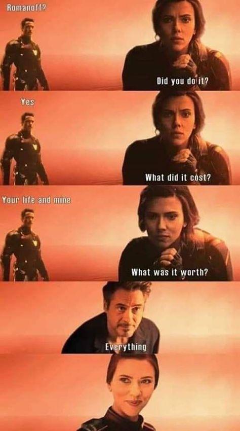 so sad frame #ironman #endgame #blackwidow #marvel #avengers