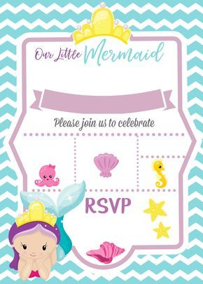 Mermaid Under The Sea Invitation How To With Picmonkey Ellierosepartydesigns Com Little Mermaid Invitations Mermaid Birthday Party Invitations Mermaid Party Invitations