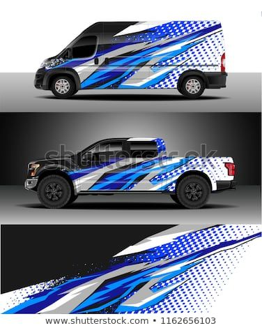 Car wrap, Truck and cargo van decal design vector  Graphic