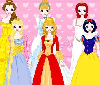 Yellow princess dress up games