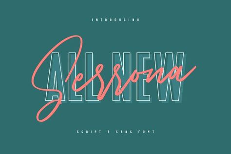 Serrona Script Font Duo by Maulana Creative on @creativemarket