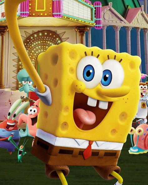 "SpongeBob SquarePants on Instagram: ""it's shell-fie time! Watch the SpongeBob Movie: Sponge on the Run 📸  📱 stream on @paramountplus 📺 rent from AppleTV, Prime Video, Vudu &…"""