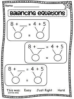 First Grade Math Unit 8 Balancing Equations Choosing An Operation And More 1st Grade Math First Grade Math Education Math