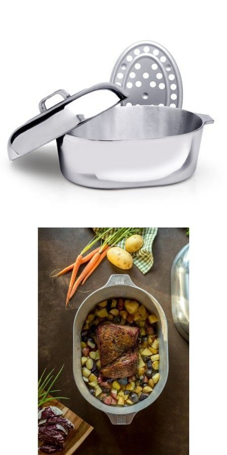 Magnalite Cast Aluminum 15 Inch 10 Quart Oval Heavy Lid Locks In Roaster With Phenolic Handles And Removable Meat Rack Roaster Roasting Pan 10 Things