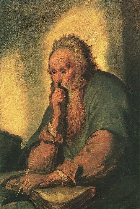 Carl Spitzweg - Apostel Paulus nach Rembrandt