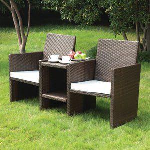 Venice Rattan 2 Seater Companion Set Patio Furniture Pillows Rattan Garden Furniture Furniture