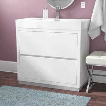 Tenafly 36 Wall Mounted Single Bathroom Vanity Set Modern