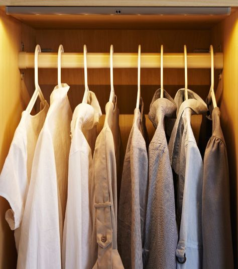 PAX wardrobe with integrated lighting on bedroom project - schlafzimmerschrank nach maß