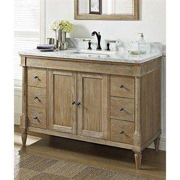 48 Inch Bathroom Vanity, Weathered Oak Bathroom Vanity Mirror